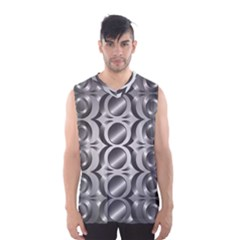 Metal Circle Background Ring Men s Basketball Tank Top