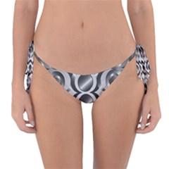 Metal Circle Background Ring Reversible Bikini Bottom