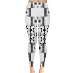 Pattern Background Texture Black Leggings