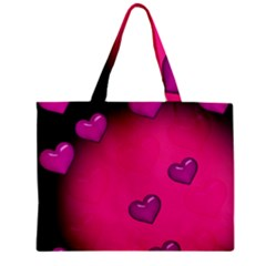 Background Heart Valentine S Day Zipper Mini Tote Bag