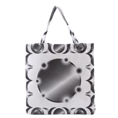 Metal Circle Background Ring Grocery Tote Bag