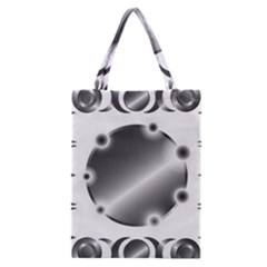 Metal Circle Background Ring Classic Tote Bag