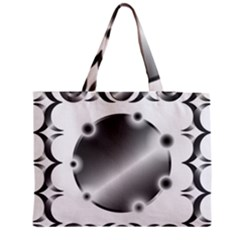 Metal Circle Background Ring Medium Zipper Tote Bag