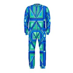 Grid Geometric Pattern Colorful Onepiece Jumpsuit (kids)