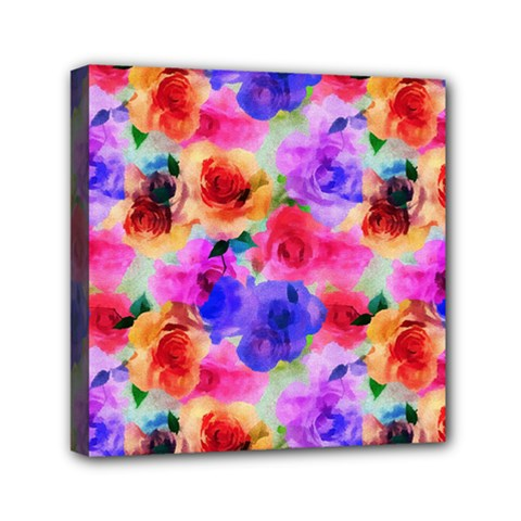 Floral Pattern Background Seamless Mini Canvas 6  X 6