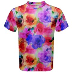 Floral Pattern Background Seamless Men s Cotton Tee