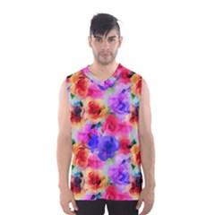 Floral Pattern Background Seamless Men s Basketball Tank Top