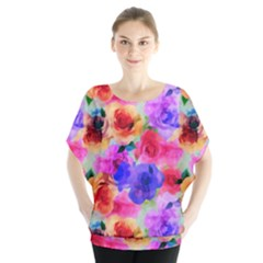 Floral Pattern Background Seamless Blouse