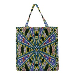 Kaleidoscope Background Grocery Tote Bag