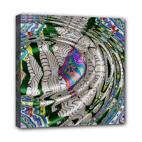 Water Ripple Design Background Wallpaper Of Water Ripples Applied To A Kaleidoscope Pattern Mini Canvas 8  x 8