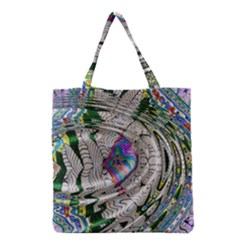 Water Ripple Design Background Wallpaper Of Water Ripples Applied To A Kaleidoscope Pattern Grocery Tote Bag