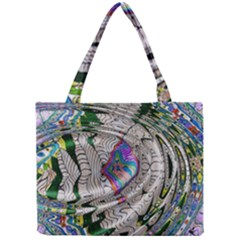 Water Ripple Design Background Wallpaper Of Water Ripples Applied To A Kaleidoscope Pattern Mini Tote Bag