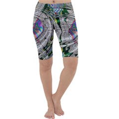Water Ripple Design Background Wallpaper Of Water Ripples Applied To A Kaleidoscope Pattern Cropped Leggings