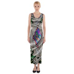 Water Ripple Design Background Wallpaper Of Water Ripples Applied To A Kaleidoscope Pattern Fitted Maxi Dress