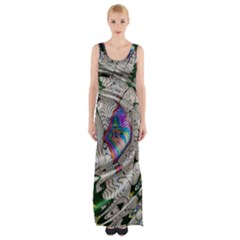 Water Ripple Design Background Wallpaper Of Water Ripples Applied To A Kaleidoscope Pattern Maxi Thigh Split Dress