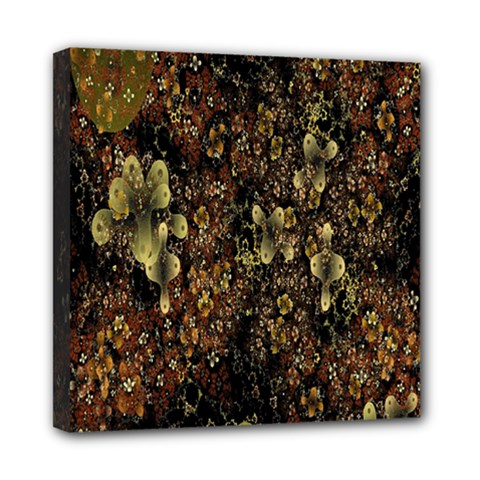 Wallpaper With Fractal Small Flowers Mini Canvas 8  X 8