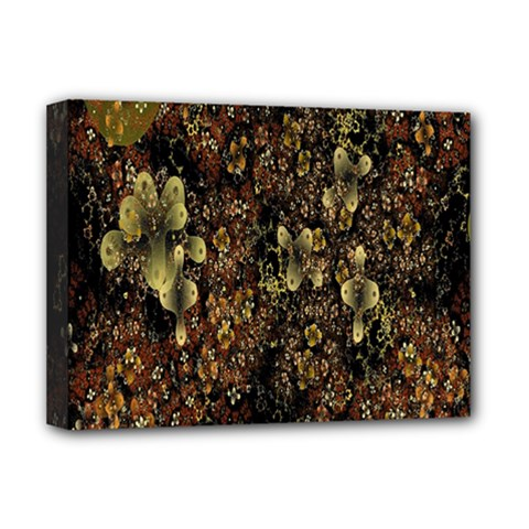 Wallpaper With Fractal Small Flowers Deluxe Canvas 16  X 12