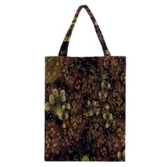 Wallpaper With Fractal Small Flowers Classic Tote Bag