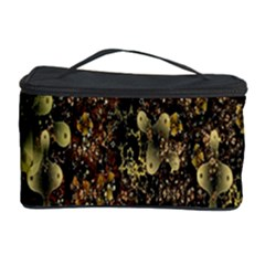 Wallpaper With Fractal Small Flowers Cosmetic Storage Case