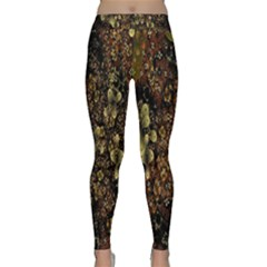 Wallpaper With Fractal Small Flowers Classic Yoga Leggings