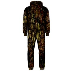 Wallpaper With Fractal Small Flowers Hooded Jumpsuit (men)