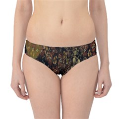 Wallpaper With Fractal Small Flowers Hipster Bikini Bottoms