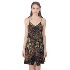 Wallpaper With Fractal Small Flowers Camis Nightgown