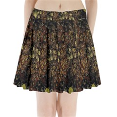 Wallpaper With Fractal Small Flowers Pleated Mini Skirt