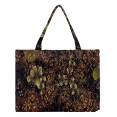 Wallpaper With Fractal Small Flowers Medium Tote Bag