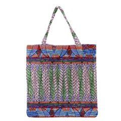 Nature Pattern Background Wallpaper Of Leaves And Flowers Abstract Style Grocery Tote Bag