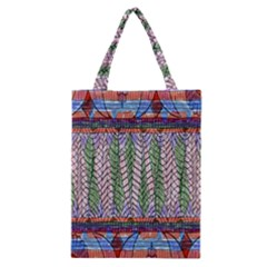Nature Pattern Background Wallpaper Of Leaves And Flowers Abstract Style Classic Tote Bag