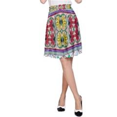 Kaleidoscope Background  Wallpaper A Line Skirt