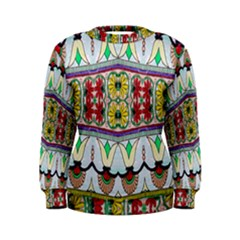 Kaleidoscope Background  Wallpaper Women s Sweatshirt