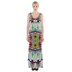 Kaleidoscope Background  Wallpaper Maxi Thigh Split Dress