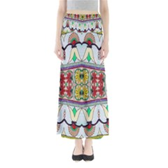 Kaleidoscope Background  Wallpaper Full Length Maxi Skirt