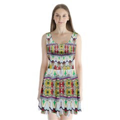 Kaleidoscope Background  Wallpaper Split Back Mini Dress