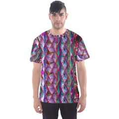 Textured Design Background Pink Wallpaper Of Textured Pattern In Pink Hues Men s Sports Mesh Tee