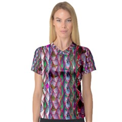 Textured Design Background Pink Wallpaper Of Textured Pattern In Pink Hues V-Neck Sport Mesh Tee