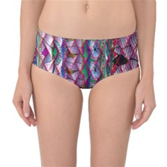 Textured Design Background Pink Wallpaper Of Textured Pattern In Pink Hues Mid-Waist Bikini Bottoms