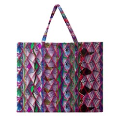 Textured Design Background Pink Wallpaper Of Textured Pattern In Pink Hues Zipper Large Tote Bag