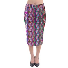 Textured Design Background Pink Wallpaper Of Textured Pattern In Pink Hues Midi Pencil Skirt
