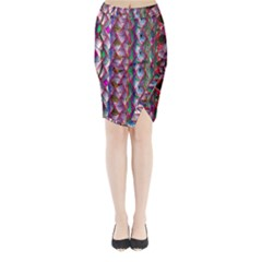 Textured Design Background Pink Wallpaper Of Textured Pattern In Pink Hues Midi Wrap Pencil Skirt