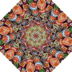Colorful Oriental Bowls On Local Market In Turkey Hook Handle Umbrellas (large)