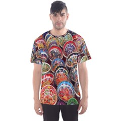Colorful Oriental Bowls On Local Market In Turkey Men s Sports Mesh Tee