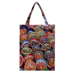 Colorful Oriental Bowls On Local Market In Turkey Classic Tote Bag
