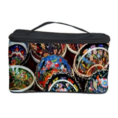 Colorful Oriental Bowls On Local Market In Turkey Cosmetic Storage Case