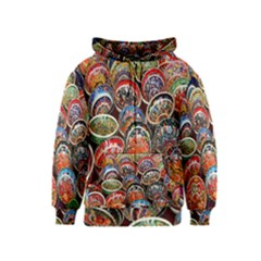 Colorful Oriental Bowls On Local Market In Turkey Kids  Zipper Hoodie