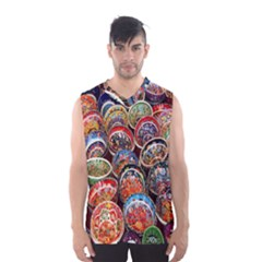 Colorful Oriental Bowls On Local Market In Turkey Men s Basketball Tank Top