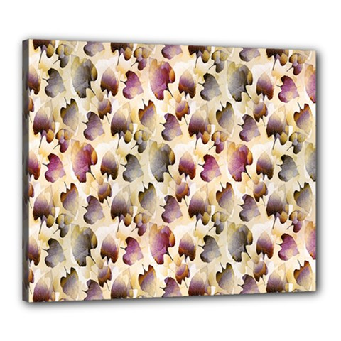 Random Leaves Pattern Background Canvas 24  X 20