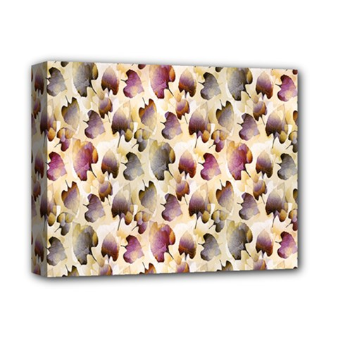 Random Leaves Pattern Background Deluxe Canvas 14  X 11